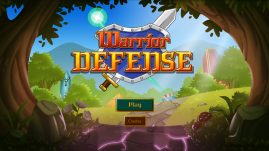 Warrior Defense title screen (day) by Shelly Soneja